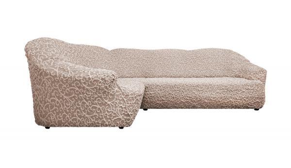 Купить со скидкой Чехол на классический угловой диван Жаккард Волны