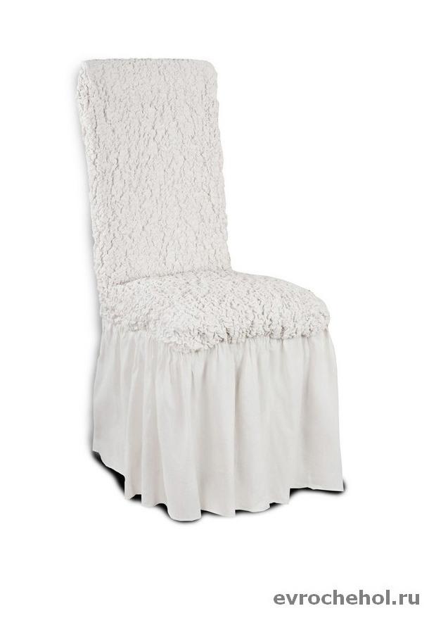 Комплект чехлов Модерн Шампань с юбкой для 6 стульев Еврочехол 9-986