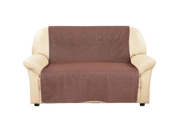 Купить со скидкой Накидка на 2-х местный диван Ривьера Темно-коричневый