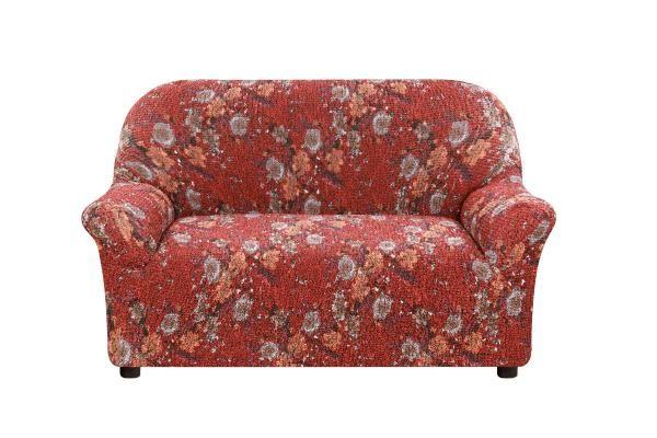 Купить со скидкой Чехол на 2-х местный диван Виста Фиори бордо