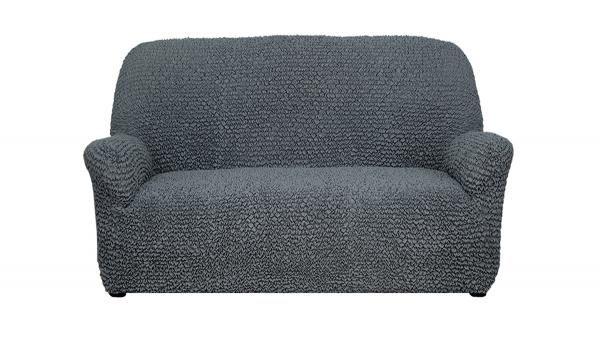 Купить со скидкой Чехол на 2-х местный диван Микрофибра Пепельно-серый