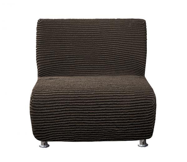 Дезерто Темно-коричневый. Еврочехол на кресло без подлокотниковДезерто<br><br>