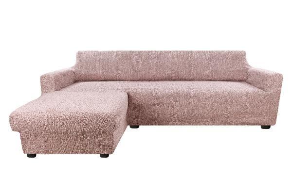 Чехол на угловой диван с левым выступом Тела Пианта кофейный