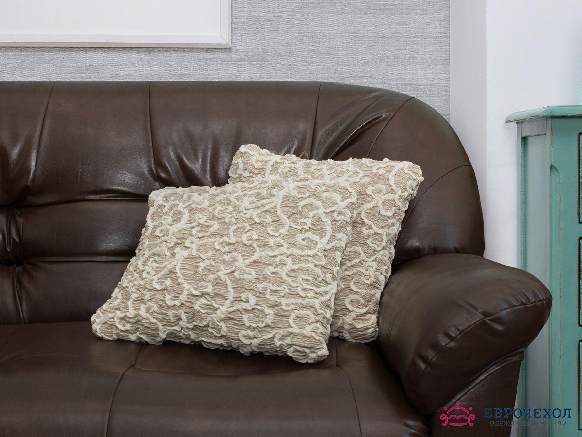 Еврочехол на подушку Жаккард Волны (2 штуки)Подушки и чехлы на подушки для дивана<br>Чехол «Волны» подойдет для тех, кто хочет защитить декоративные диванные подушки (думочки) от постоянных воздействий.. Этот чехол, благодаря прочности ткани, станет идеальным решением для владельцев домашних животных. Кроме того, состав ткани гипоаллерген...<br>
