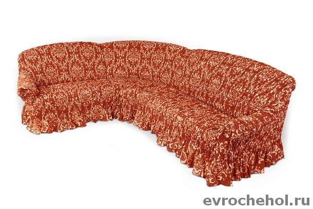 Купить со скидкой Фантазия Венеция Оранж. Чехол на классический угловой диван