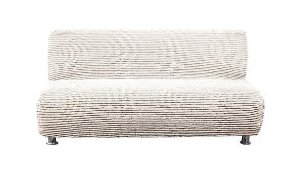 Дезерто Белый. Еврочехол на 3-х местный диван без подлокотниковДезерто<br><br>