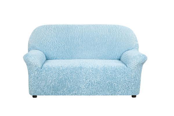 Чехол на 2-х местный диван Микрофибра Голубой