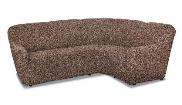 Виста Меандр коричневый. Чехол на классический угловой диванВиста<br><br>