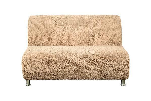 Чехол на 2-х местный диван без подлокотников Микрофибра Кофейный