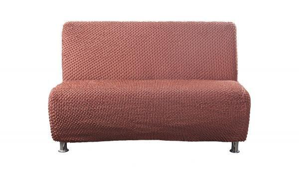 Элеганте Оранжевый. Чехол на 2-х местный диван без подлокотниковЭлеганте<br><br>