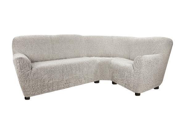 Чехол на классический угловой диван Беллини Серый