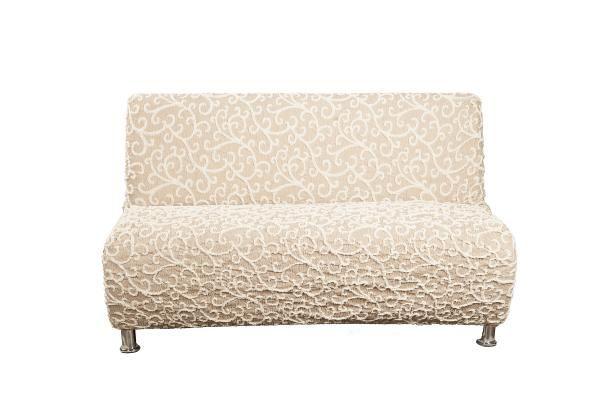 Купить со скидкой Чехол на 3-х местный диван без подлокотников Жаккард Волны