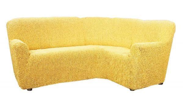 Чехол на классический угловой диван Микрофибра Желтый