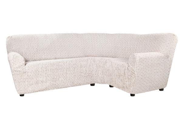 Чехол на классический угловой диван Сиена Сатурно бежевый