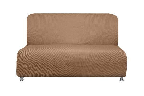 Купить со скидкой Чехол  на 2-х местный диван без подлокотников Рустика Бежевый