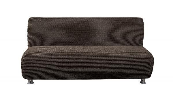 Дезерто Темно-коричневый. Еврочехол на 3-х местный диван без подлокотниковДезерто<br><br>