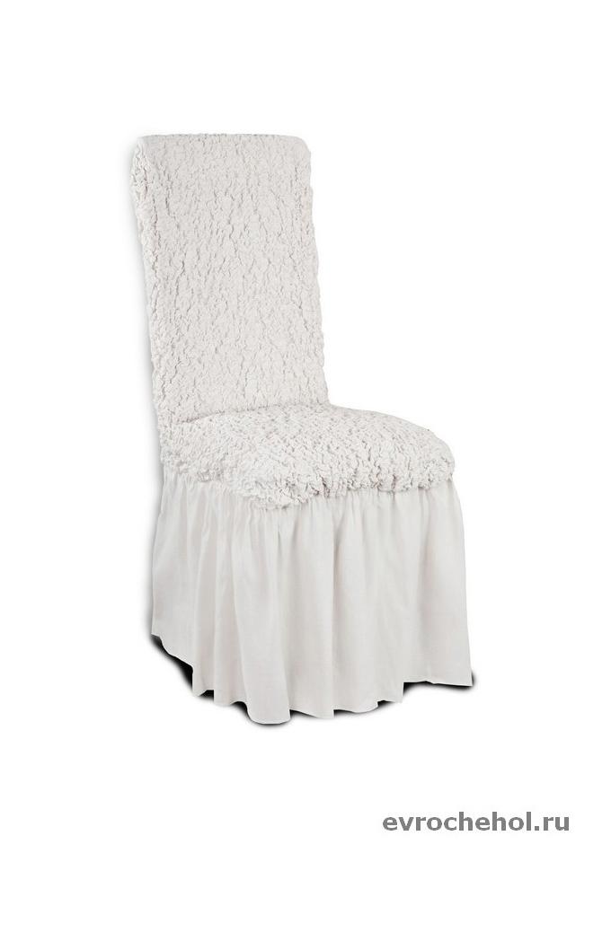 Комплект чехлов Модерн Шампань с юбкой для 4 стульевКомплекты чехлов<br>Благородный оттенок цвета шампанского этого изумительного чехла станет изысканным украшением любого интерьера. Натуральный хлопок в составе мягкой, приятной на ощупь, ткани делает ее крепкой и практичной в эксплуатации, позволяя идеально облегать мебель и...<br>