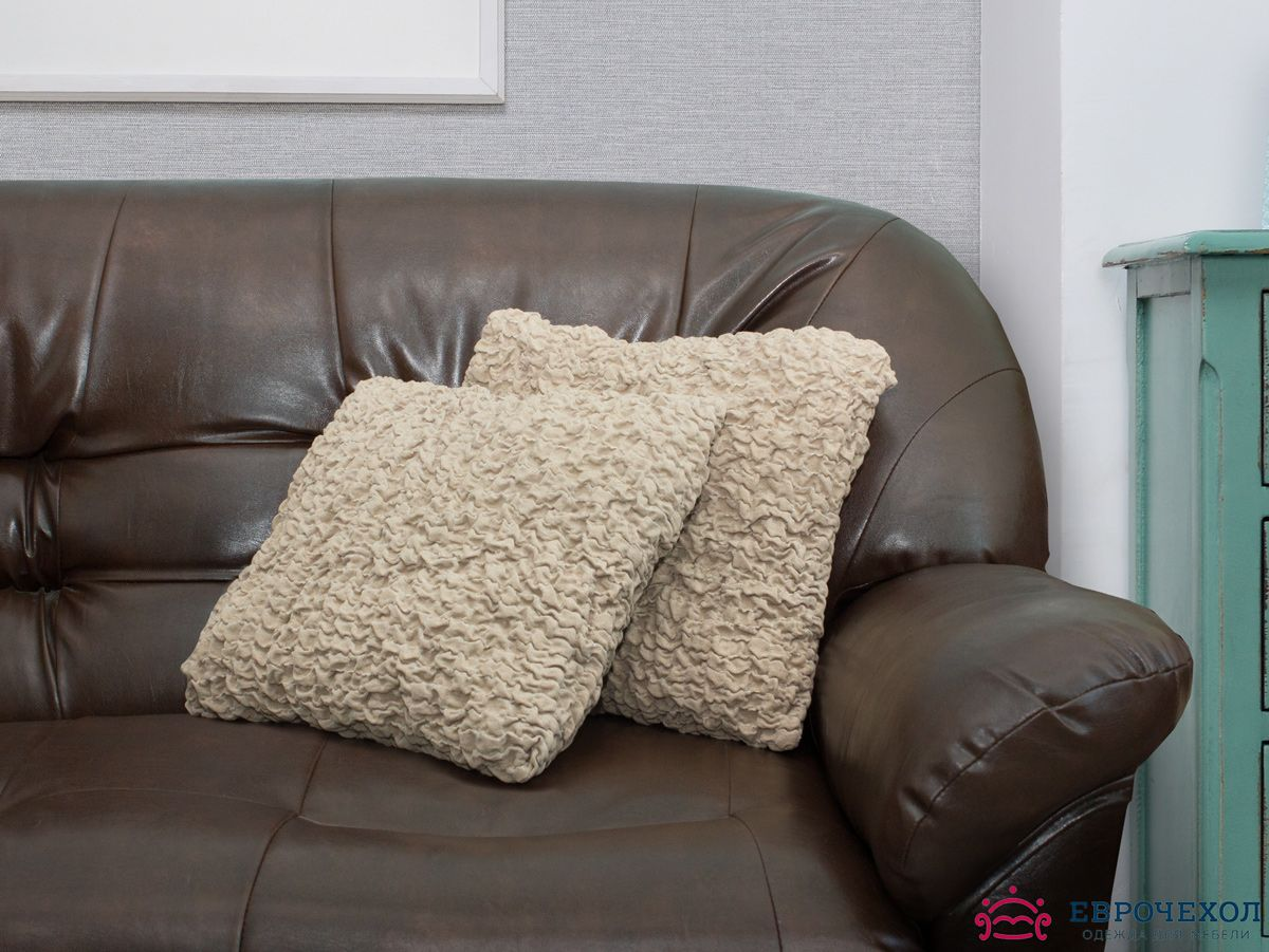 Еврочехол на подушку Какао (2 штуки)Подушки и чехлы на подушки для дивана<br>Чехол «Какао» подойдет для тех, кто хочет защитить декоративные диванные подушки (думочки) от постоянных воздействий. Этот чехол, благодаря прочности ткани, станет идеальным решением для владельцев домашних животных. Кроме того, состав ткани гипоаллергене...<br>