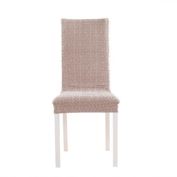 Чехол на стул со спинкой 50 см (2 штуки) Коста Кремовый