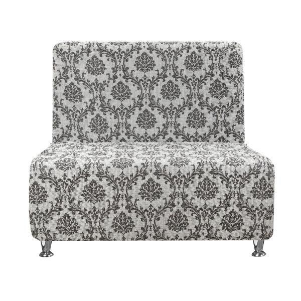 Чехол на кресло без подлокотников Мадрид Серый