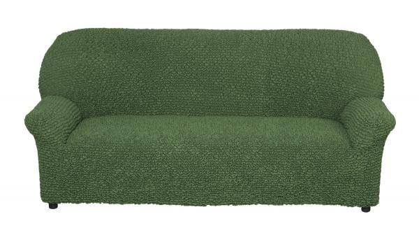Микрофибра Зеленый. Чехол на 3-х местный диванМикрофибра<br><br>