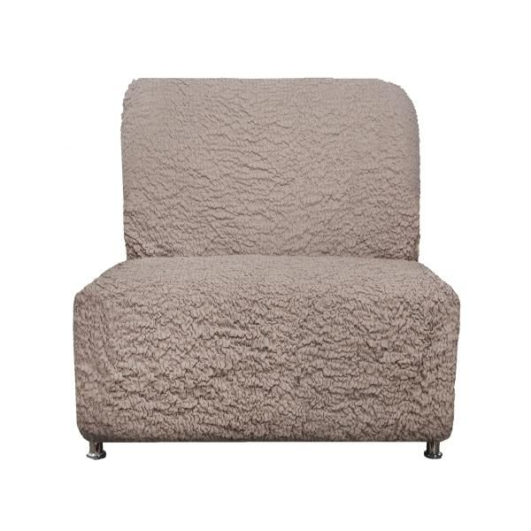 Чехол на кресло без подлокотников Модерн Какао