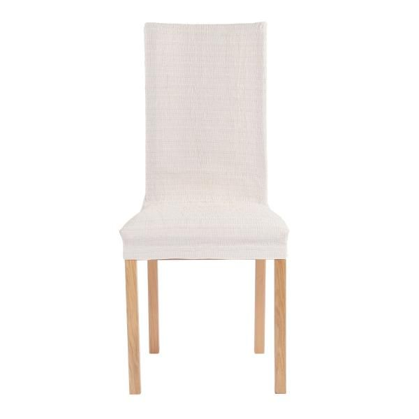 Чехол на стул со спинкой 40 см Акари Натуральный