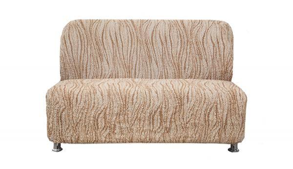 Купить со скидкой Чехол на 2-х местный диван без подлокотников Виста Элегант Крем