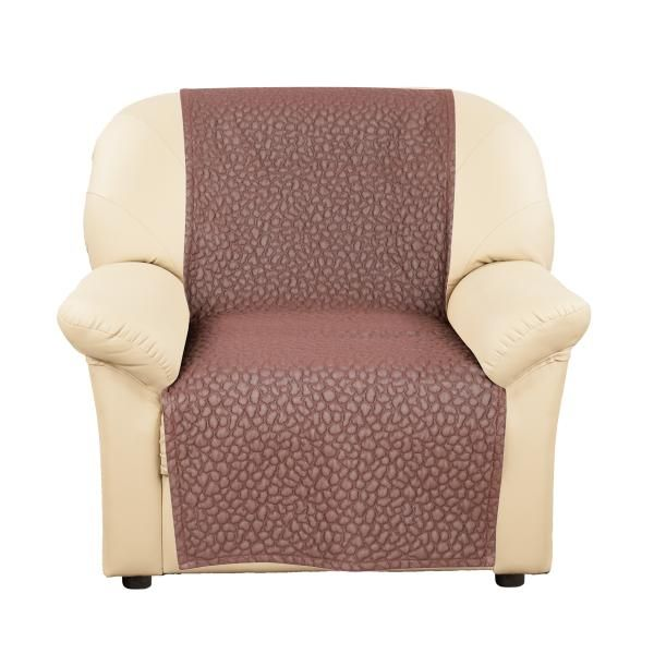 Чехол для дивана Еврочехол Накидка на кресло Ривьера Темно-коричневый от Еврочехол