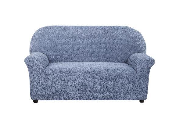 Чехол на 2-х местный диван Микрофибра Пепельно-голубой