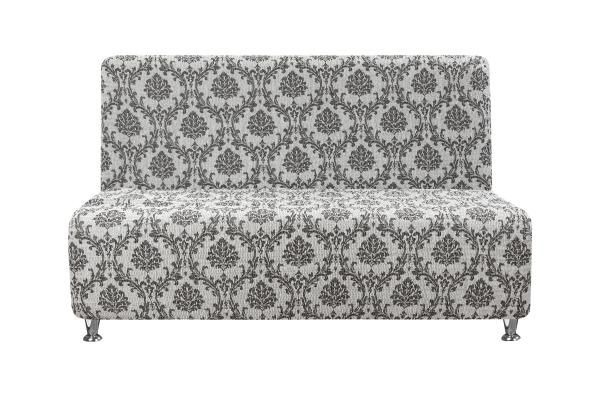 Чехол на 2-х местный диван без подлокотников Мадрид Серый