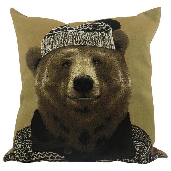 """Декоративная подушка Еврочехол Подушка гобеленовая  45х45 см Подушка """"Нордический медведь"""" от Еврочехол"""