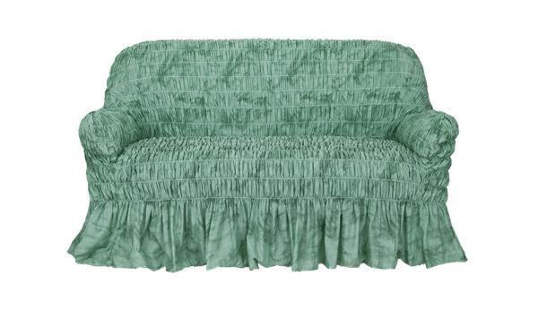 Чехол на 2-х местный диван Фантазия Зеленый