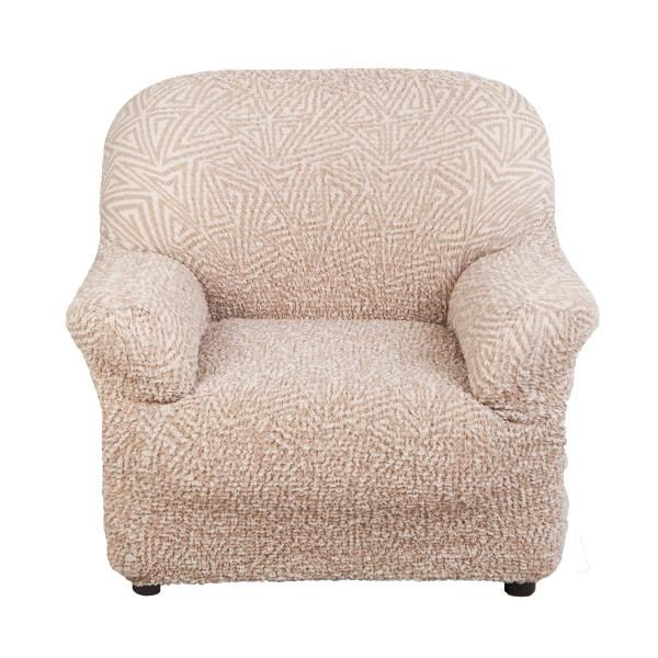 Купить со скидкой Чехол на кресло Виста Меандр бежевый