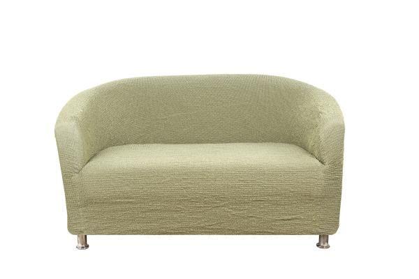 Чехол на 2-х местный диван ракушку Альба Фисташковый
